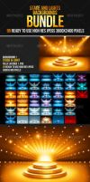 Stage + Lights Backgrounds Bundle by LuxAeternaDesign