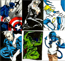 SketchCard Mambo- Blue Marvel by AgarthanGuide