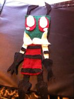 i made a zim plushie by invaderstitch2000