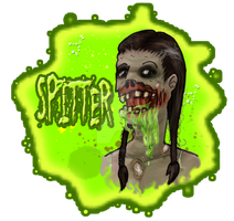 L4D 2 Spitter Keychain and Pin by Lefuulei-Art