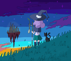 The Witch and the City by KayJayDrawsArt