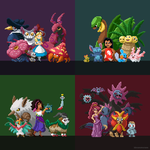 (Animated) Disney princesses as Pokemon trainers by bbrunomoraes