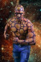 The Thing bodypainted fantastic four galaxy by Bodypaintingbycatdot