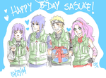 Happy birthday Sasukee e eee ee ee by Caypake