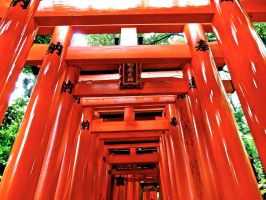 Fushimi Inari Shrine Kyoto by RunaFire