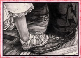 Dancing Shoes Pencil by DragonPress