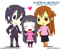Sword Art Online ~ (chibi version) by hallow1791