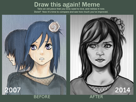Draw this again MEME by aibunny