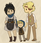 post apocalyptic family by MishaChanX