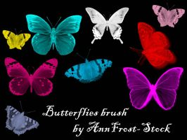 Butterflies brush by AnnFrost-stock