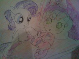 Rarity and Sweetie Belle: Sisterly Love by PurfectPrincessGirl