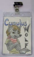 Cumulus Wolf con badge commiss by ImaginaryFox