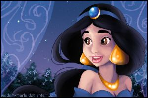 Jasmine Postcard by madam-marla