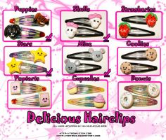 + Hairclips 1 + by pinknikki