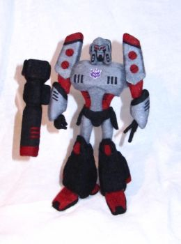 Needle Felted TFA Megatron by GlassCamel