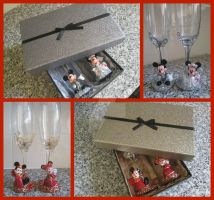 Character Glasses: Wedding sets by amandas-crafts