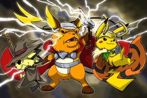 The Pikachu Family by Zerochan923600