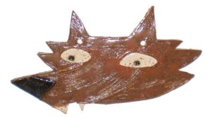 Space Coyote 5 by aberrantceramics