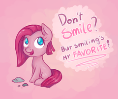 A Pink Smile by Keep-Yourself-Alive