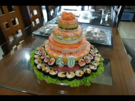 5 Layer Sushi Cake by Bap2s