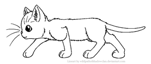 ThunderClan Warrior Lineart by WildpathOfShadowClan