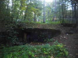 Bomb shelter at autumn evening by MiMaExtra