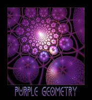 Purple Geometry by Siminart