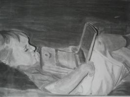 Kid on Laptop: Done by Battyniconi