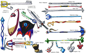 KH - 4th Trio's Weapons by General-RADIX