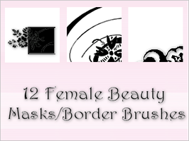 12 Female Beauty Brushes Set 1 by iconstudios