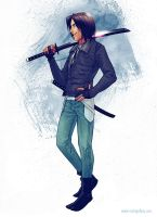 RG: Cecil - The Wandering Ronin by nakanoart
