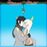 Mistletoe Toe meme by Ask-the-CandleTwins