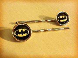 Batman Hair Clips by Monostache