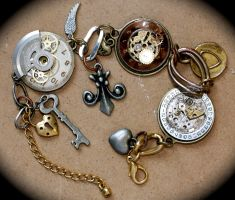 Steampunk Charm Bracelet by Lucky978