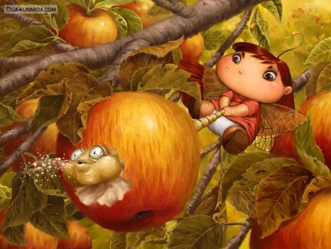 Apple Fairy by LiaSelina