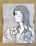 Flower Girl InkNouveau :Drawing: by lavonia