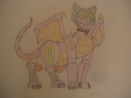 Robot Ginger's beast form by jazzprowl2