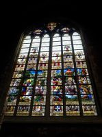 Ghent St. Baafs cathedral Stained glass window 2 by BlokkStox