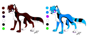 Fursona Two Coats by Flame-Expression