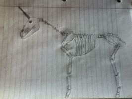 Evil Undead Unicorn Drawing by Kingfisher2