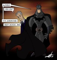 Batman and Alfred by scruffyzero