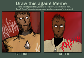 Before and After Meme by Raffian