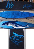 Skateboard - Longboard - Shark by MJP67