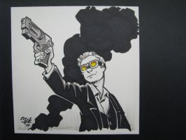Steampunk Assassin - Con Sketch by Steevcomix