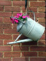 Flowering watering can stock by DemoncherryStock