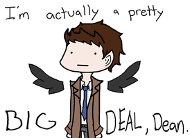 Castiel is a big deal by darkkiller101