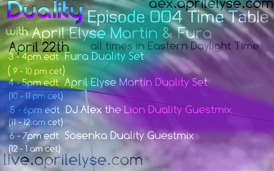 Duality with April Elyse + Fura Graphic v1 by AprilElyse