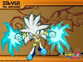 Silver The Hedgehog - Sonic Battle Style by AleTheHedgehog99