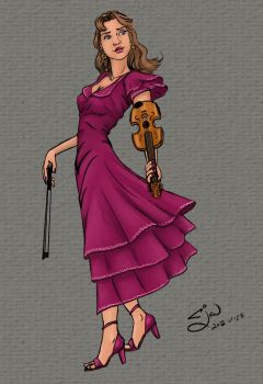 Violin gal by CloudlinerCorona