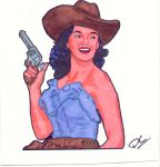 cowgirl jane russell by dragon-orb